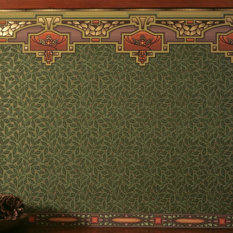 Arts & Crafts Style Nature Wallpaper   Glenwood in Forest ...