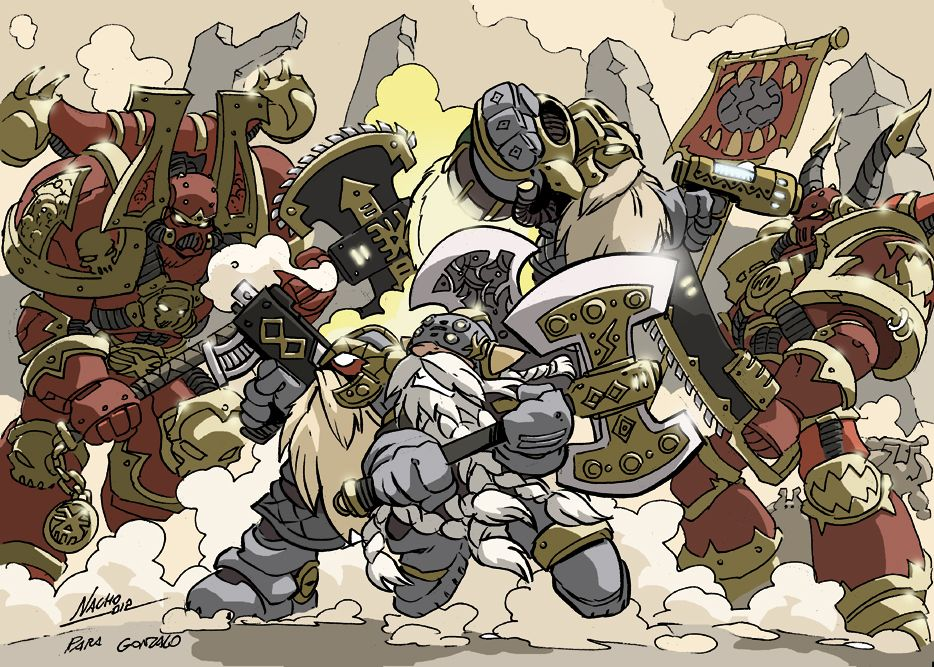 Squats vs Chaos by NachoMon.deviantart.com on @deviantART ...Warhammer 40k Chaos Gods Fanfiction