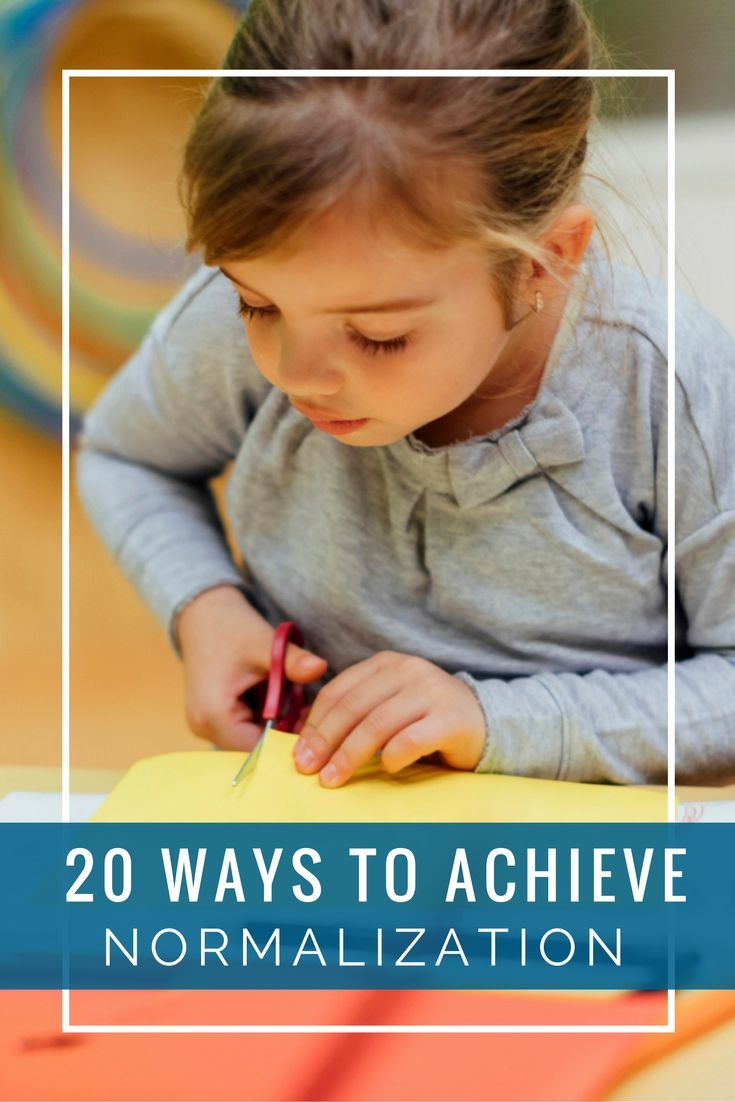 """normalized child Over a period of time, the children develop into a """"normalized community,""""  working with high concentration and few interruptions normalization is the  process."""