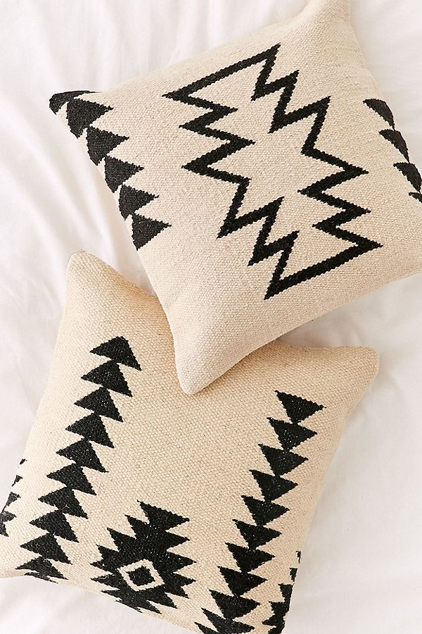 Slide View 4 Southwestern Minimal Kilim Throw Pillow