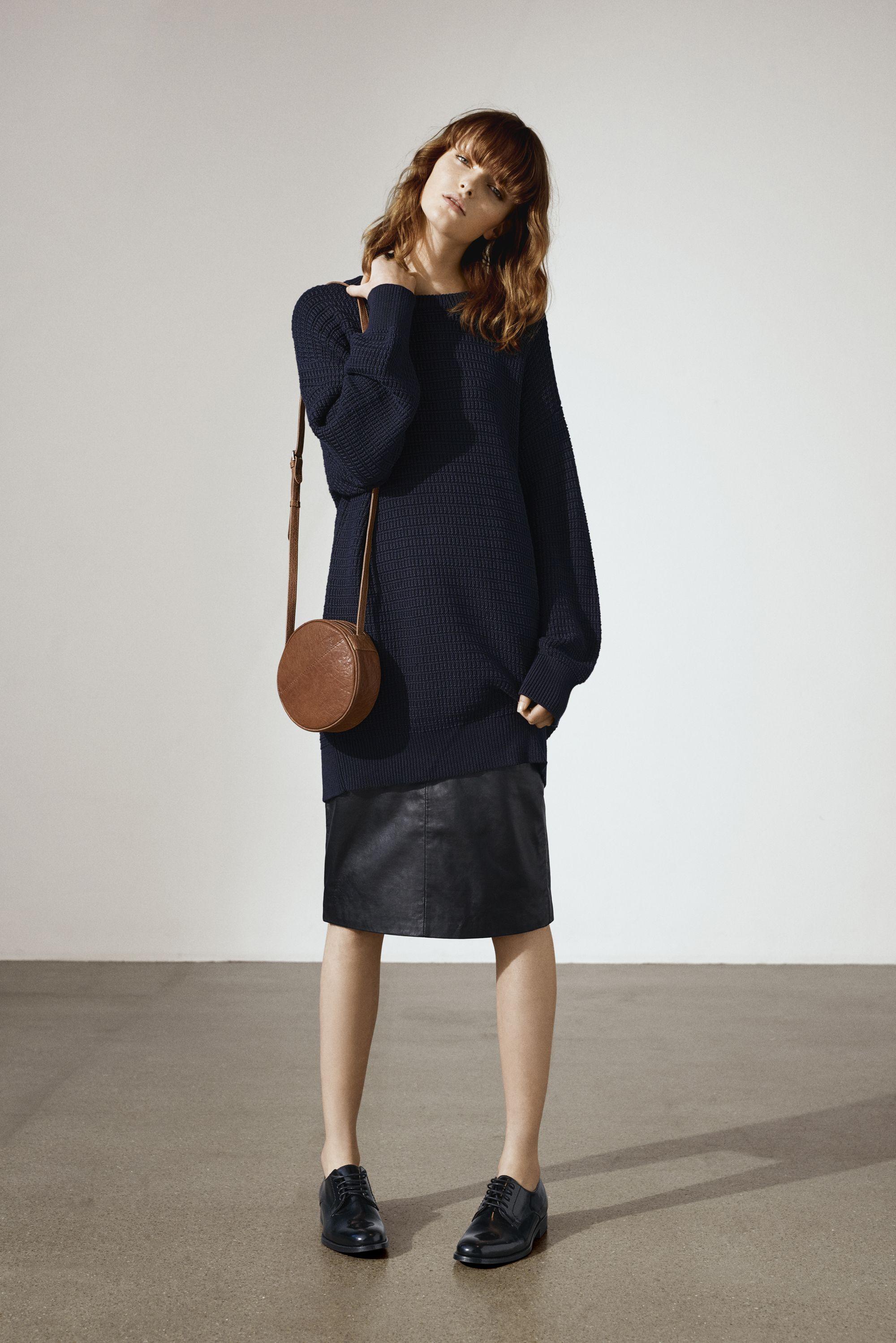 Anine Crossbody | Vintage leather | Round shape | Markberg AW16