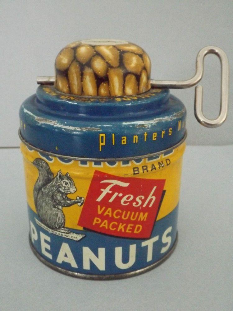 Vintage Planter's Nut Chopper w/ Squirrel Brand Peanut Tin