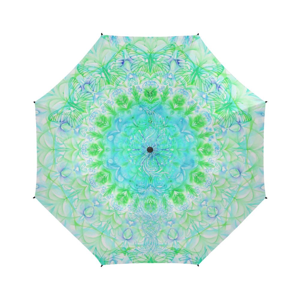 butterfly life colors- Large umbrella- Rain and sun- customizable-mandala 9-Handpainted design