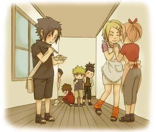 Naruto Sakura Sasuke Shikamaru Ino Choji Kiba: Sasuke,Ino,Sakura,Shikamaru,Naruto,Kiba,Akamaru(Dog