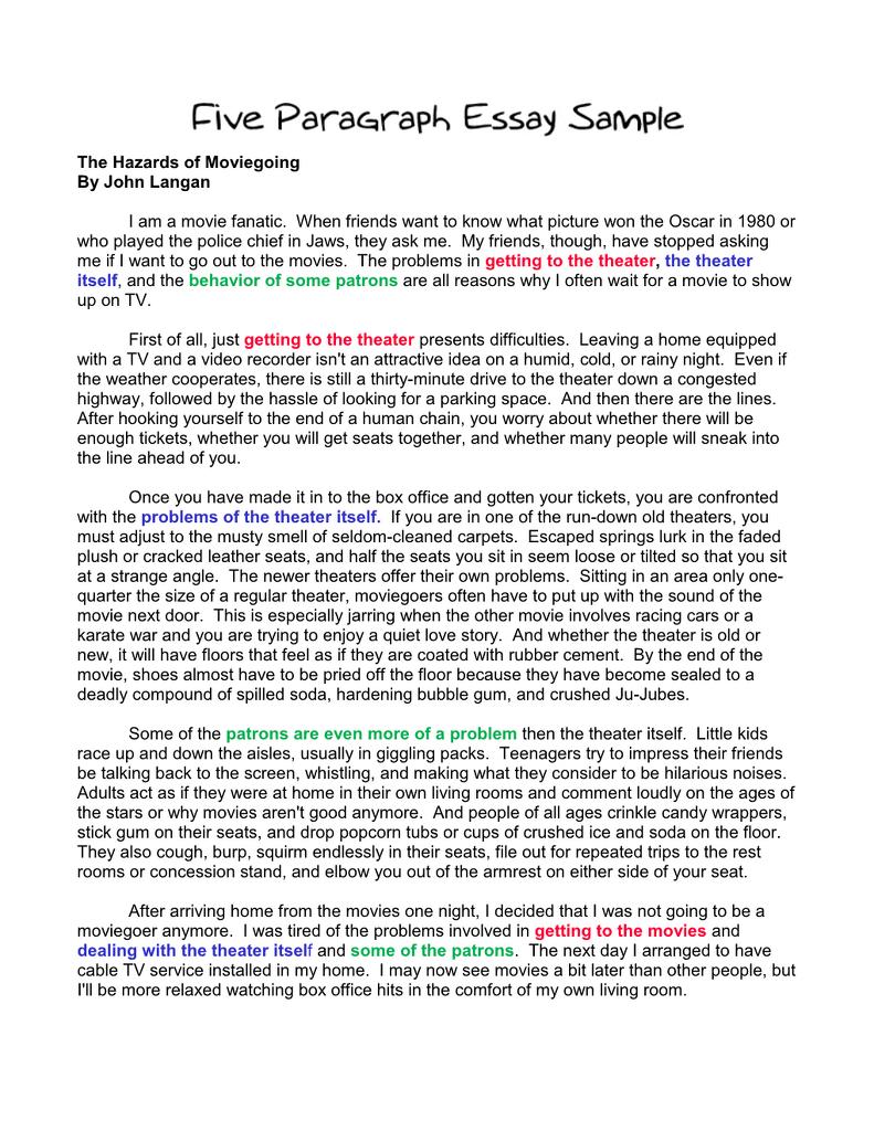 five paragraph persuasive essay example