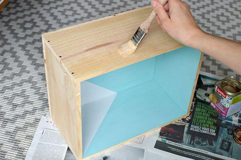 DIY  LES ETAGERES EN CAISSES A VIN wwwlesyeuxenamande - Bricolage A La Maison