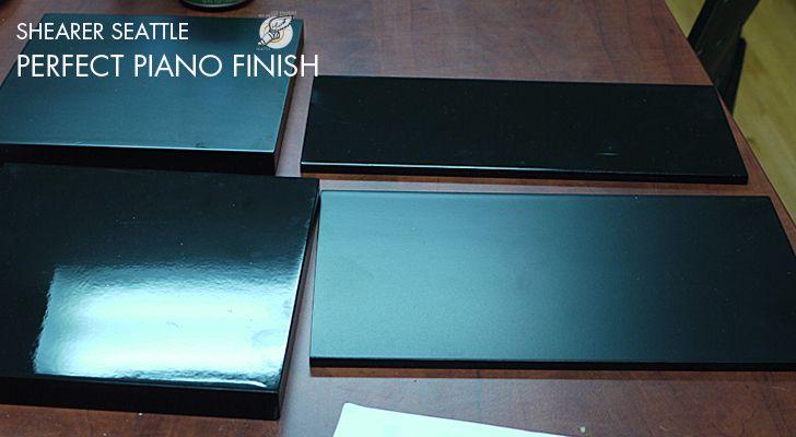 Piano Black Paint Finish