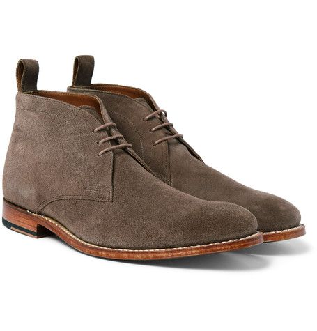 Grenson - Marcus Washed-Suede Chukka Boots