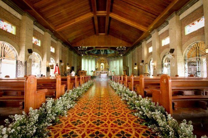 San Antonio de Padua Tagaytay Church wedding decorations