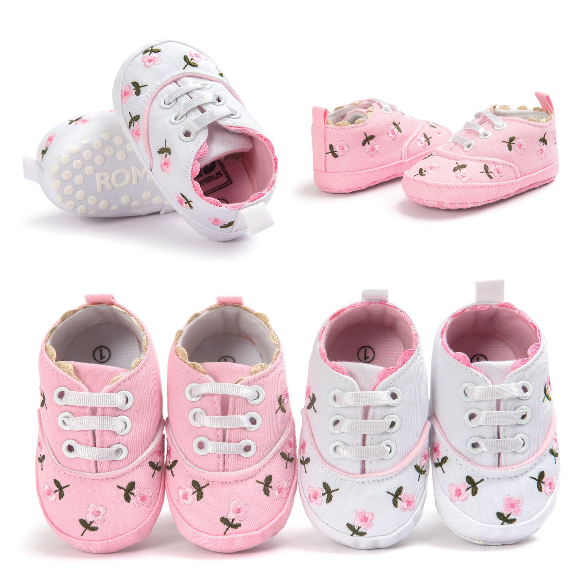 to Buy Free Shipping Cute White Flowers 2017 Baby Shoes