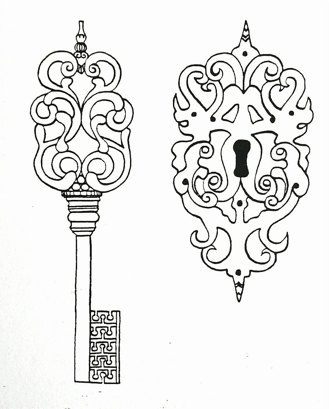Zeichnung Altes Schloss Stuttgart. MachART-Bettina Rothfuss