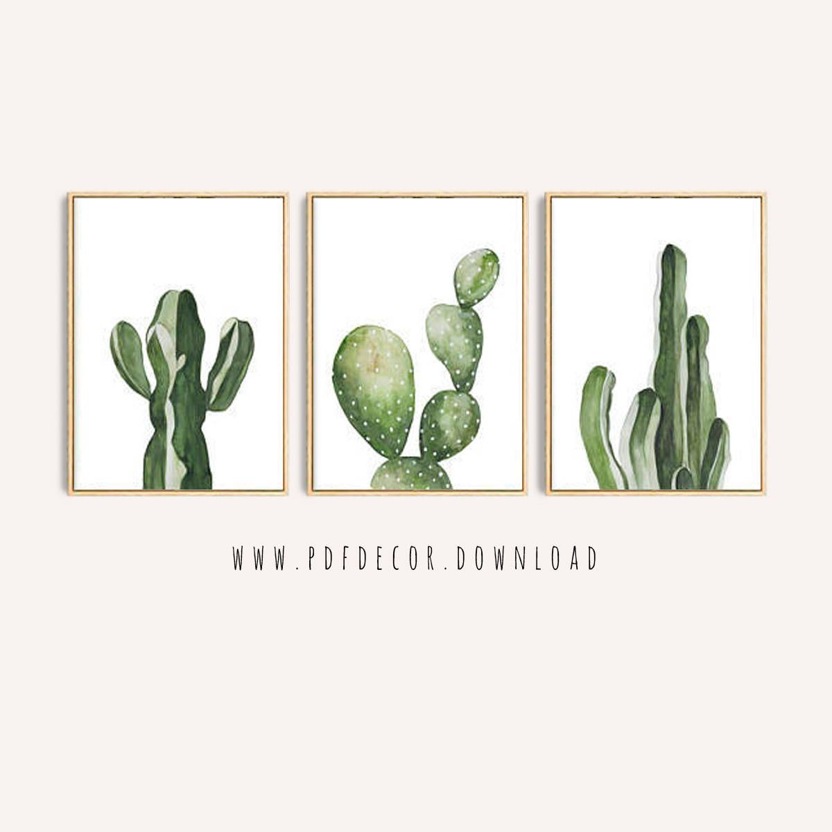 Tropical Decor, Set of 3, Cactus Decor, Cactus Wall Art, Botanical, Tropical Cactus, Cactus Art, Wall Art, Art, Set of 3 Prints, Greenery
