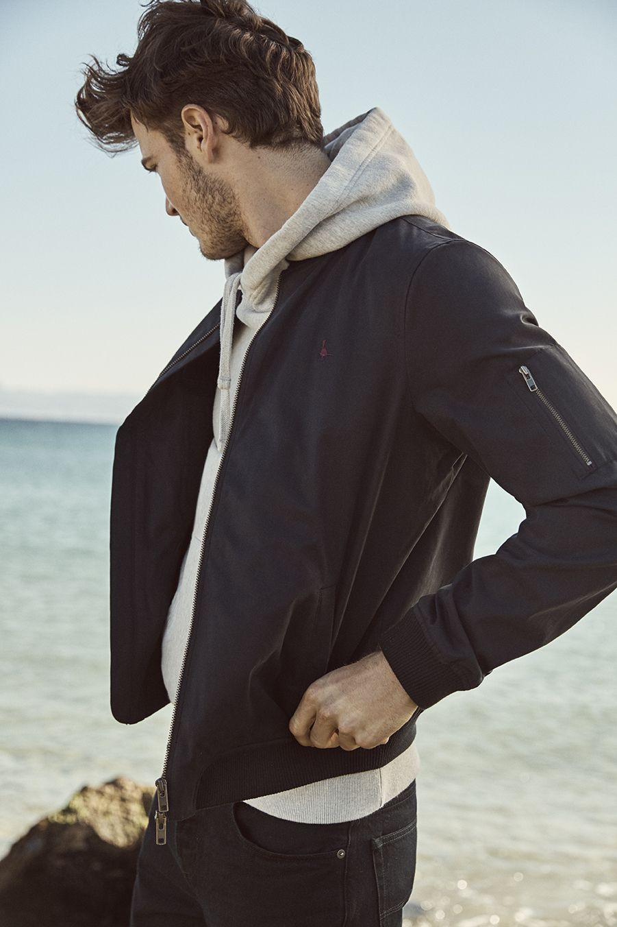 Team A Hoodie Under Your Jacket For Extra Warmth Winter Outfits Men Mens Outfits Bomber Jacket Men