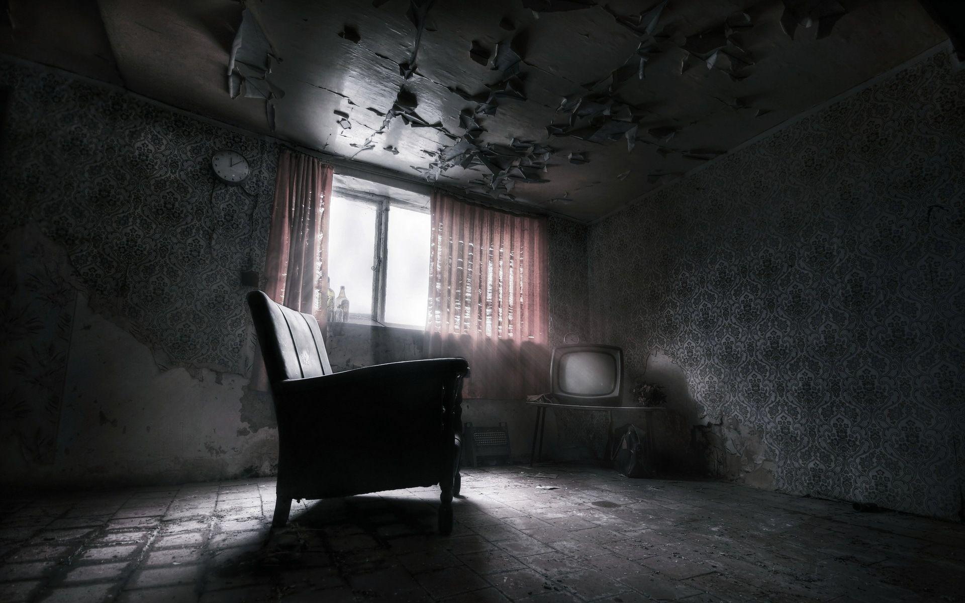 Заброшенная комната | Темные комнаты, Обои для комнаты ...
