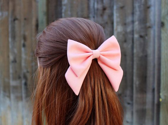 """4.5"""" pink hair bow fabric"""