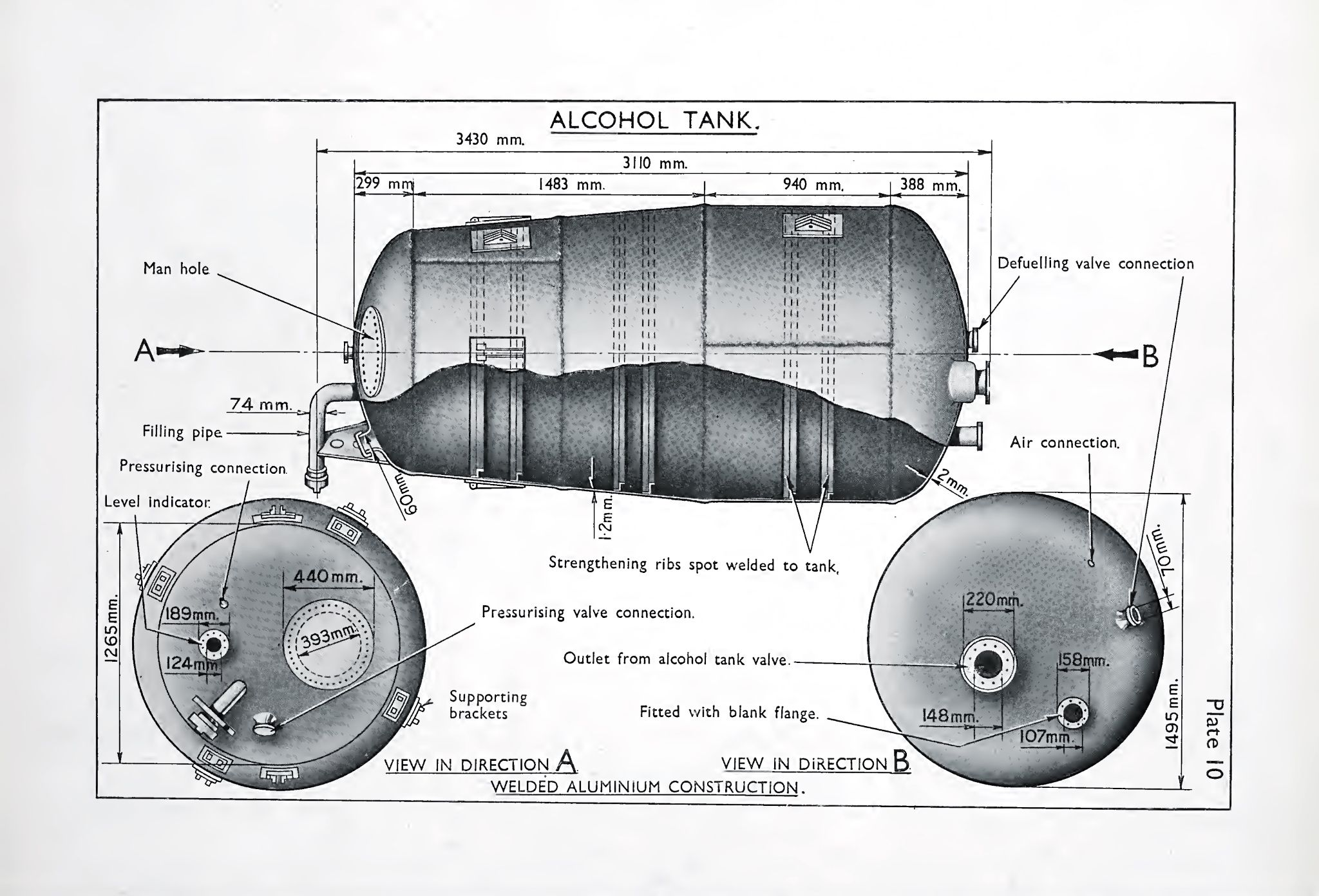 hight resolution of alcohol tank of the a4 v2 rocket