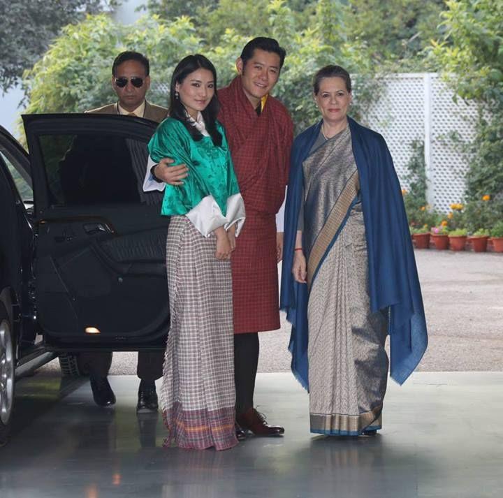 King Jigme Khesar Namgyel Wangchuck and Queen Jetsun Pema visit India Jan. 2014