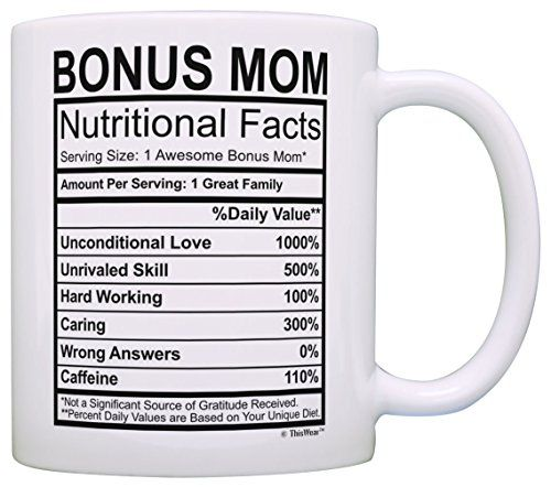 Mothers Day Gifts For Stepmom Bonus Mom Nutritional Facts Https Www Amazon Com Dp B01nawlx0f Ref Cm Sw R Pi Dp X 1tghab Nutrition Facts Mugs Drummer Gifts