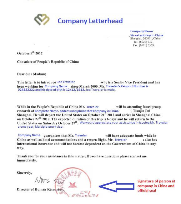 Format Of Visa Invitation Letter For Business Purpose And Review
