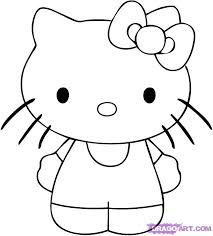 Easy Pictures To Trace Google Search Art In 2019 Hello Kitty