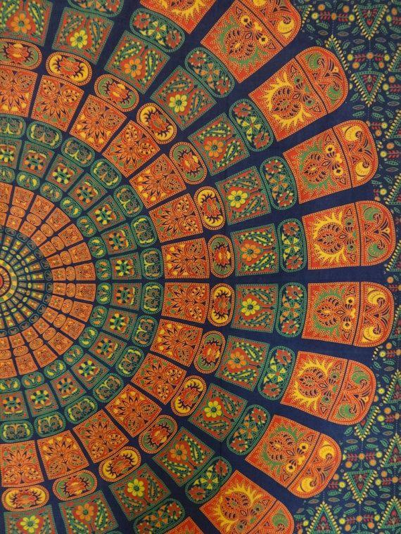Mandala boh me mur tapisseries hippie coton tenture - Motif tapisserie ...