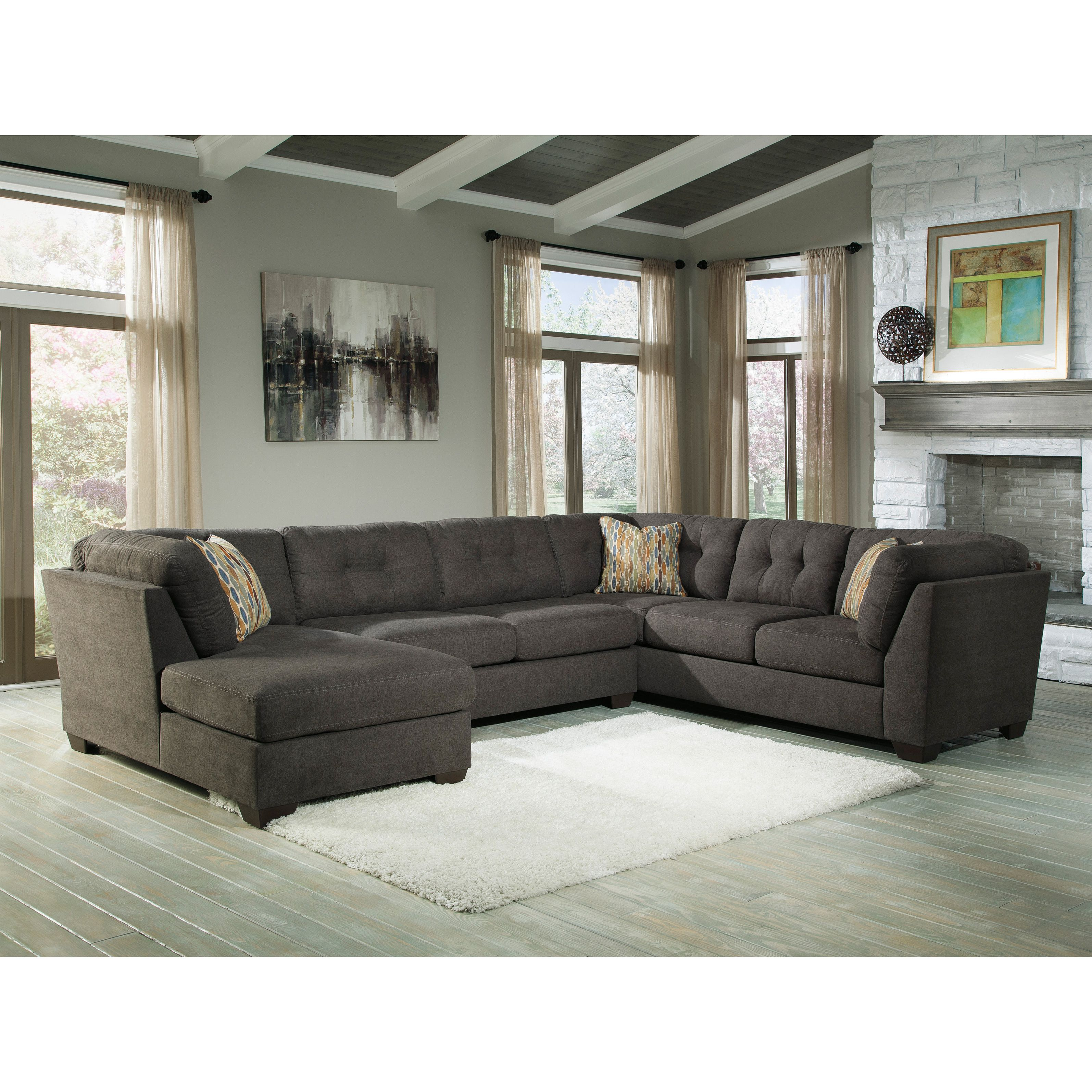 photo nice jayceon gray signature furniture of ashley attractive piece chaise with att item look sectional x number design