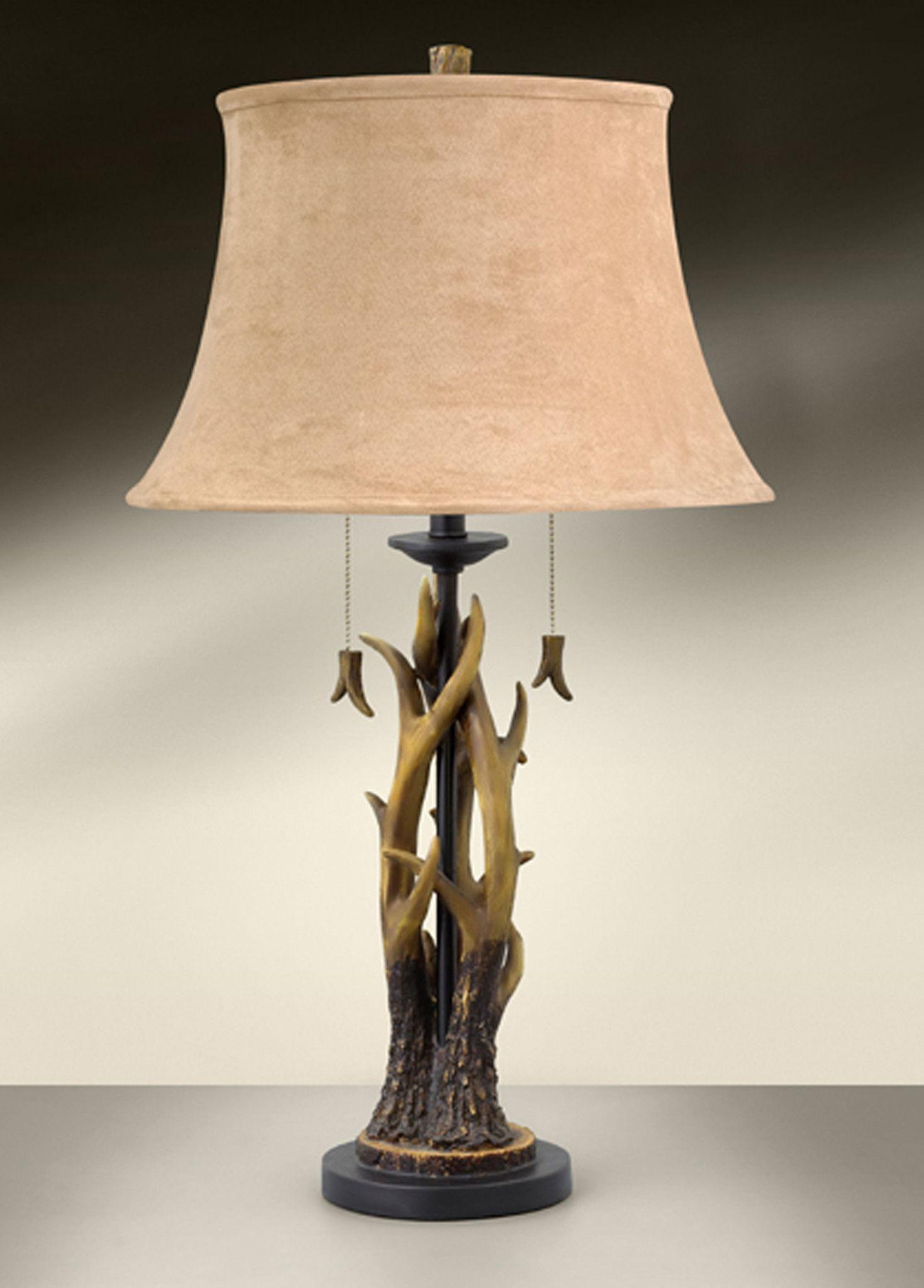 Western Range Antlers Resin Table Lamp 986TSC