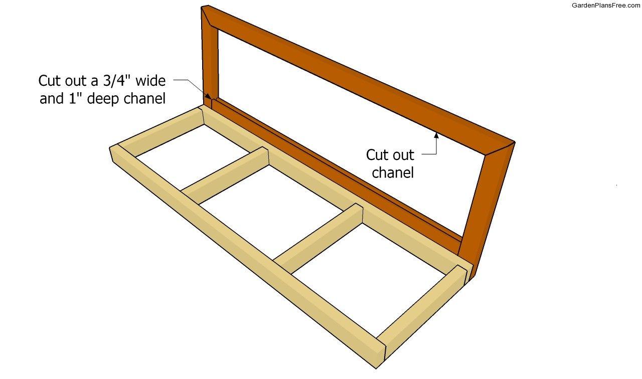 Building the back support frame homework pinterest bench swing