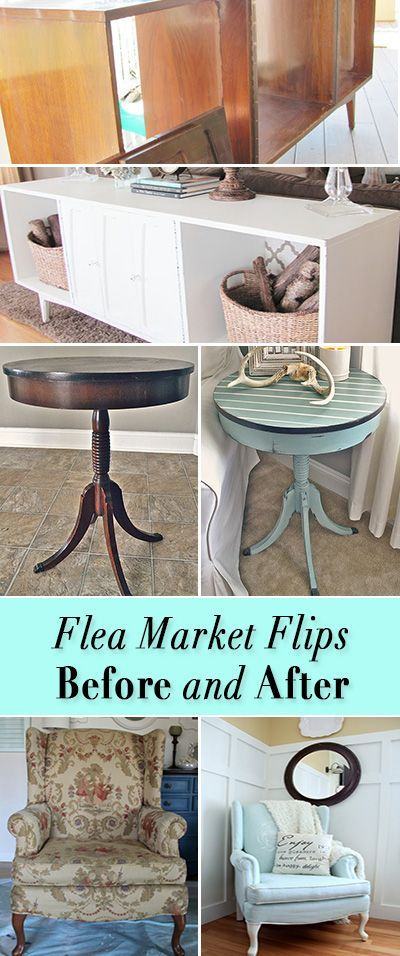 Gorgeous Flea Market Flips : Before and After Furniture Makeovers • The Budget Decorator