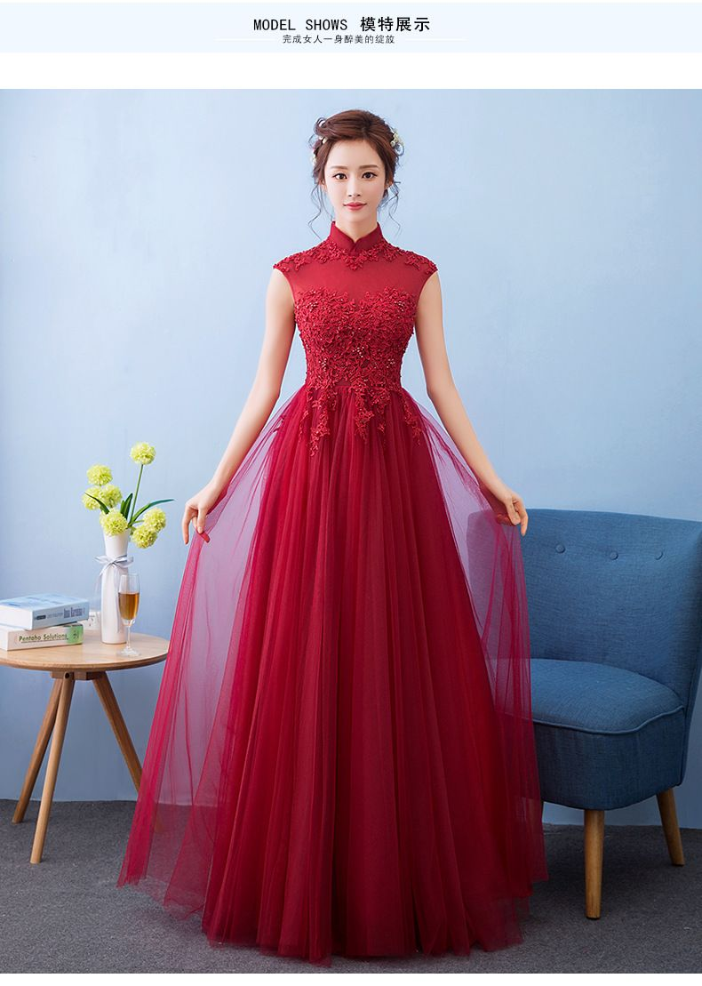 a598974e8f Modern Winter Qipao Long Cheongsams Chinese Wedding Dress Bride 2017 ...