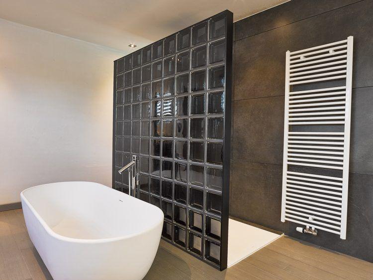 Glasblokken In Badkamer : Douchewand met glazen bouwstenen badkamer in