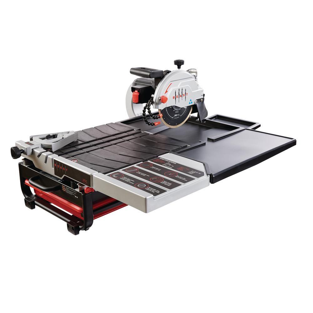 Beast Professional 15 Amp 115 Volt 10 In Wet Tile Saw Tile Saw