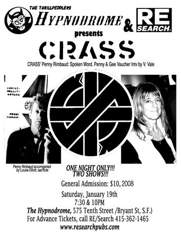 CRASS at the Hynodrome | CRASS | Punk songs, Crust punk