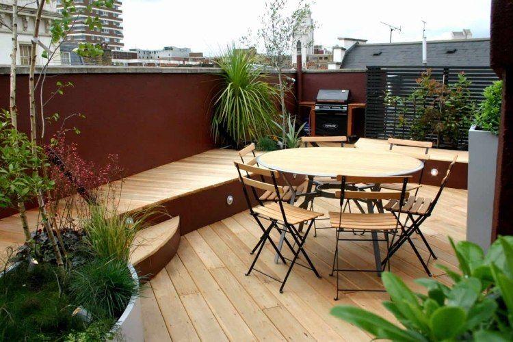 aménagement petit espace | amenagement-terrasse-table-chaises-bois ...