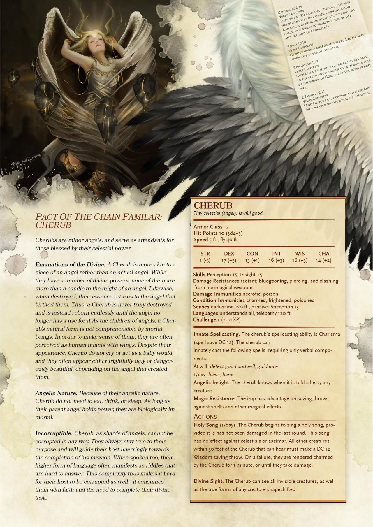 "DnD 5e Homebrew — ""Compendium Of Angels"" Excerpt Part 2: Warlock..."