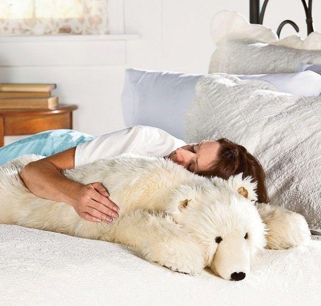 Polar Bear Stuffed Animal Large Big Body Pillow Kid Plush Jumbo