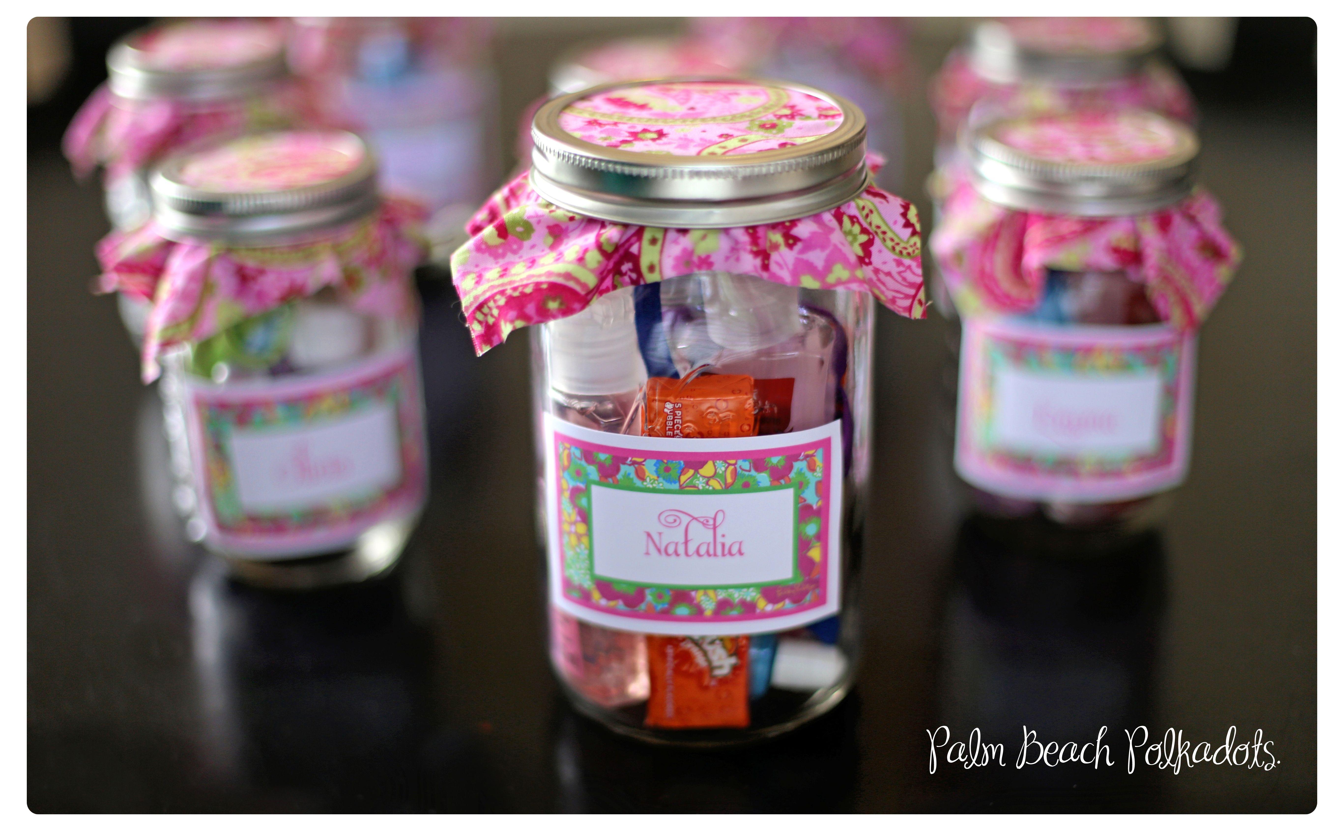 Slumber Party Sleepover Birthday Take Home Idea Mason Jar Filled With Hubba