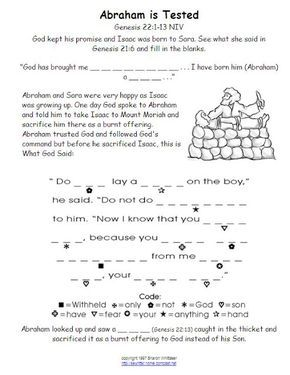 Bible Worksheet Abraham Isaac Sacrifice Vbs Pinterest Bible Abraham Worksheets Math Bible Worksheet Abraham Isaac Sacrifice