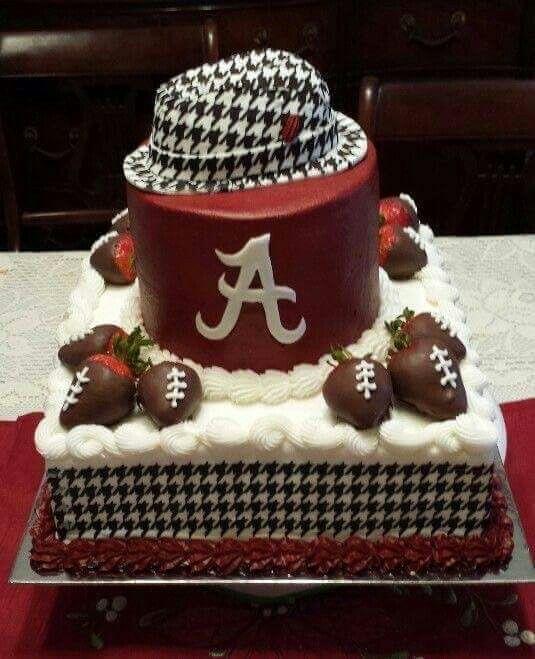 Remarkable Crimson Tide Cake Alabama Grooms Cake Alabama Cakes Alabama Personalised Birthday Cards Veneteletsinfo
