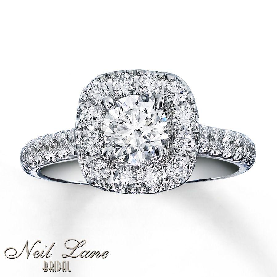 Kay Neil Lane Bridal Ring 1 1/2 ct tw Diamonds 14K White