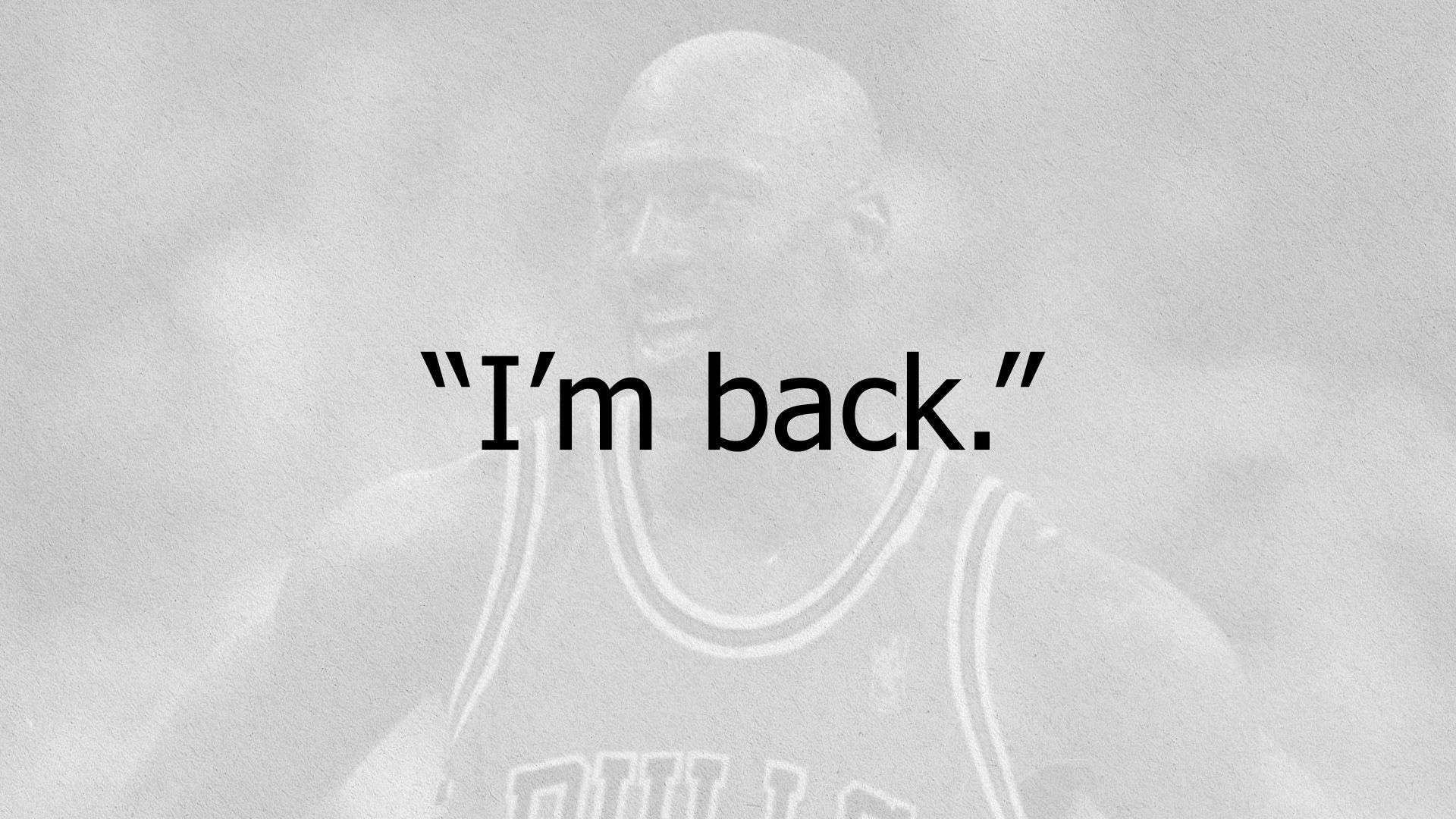 Nbc Sports Chicago Airing I M Back Documentary About Michael Jordan S Return To The Nba National Baske Michael Jordan Michael Jordan Pictures Jordan Quotes