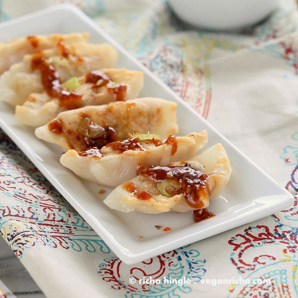 Gluten Free Potstickers Filled With Sweet Sour Tempeh And Celery