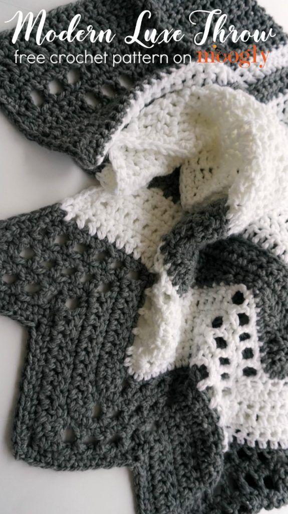 Modern Luxe Throw - Free Crochet Pattern on | Crochet | Pinterest ...
