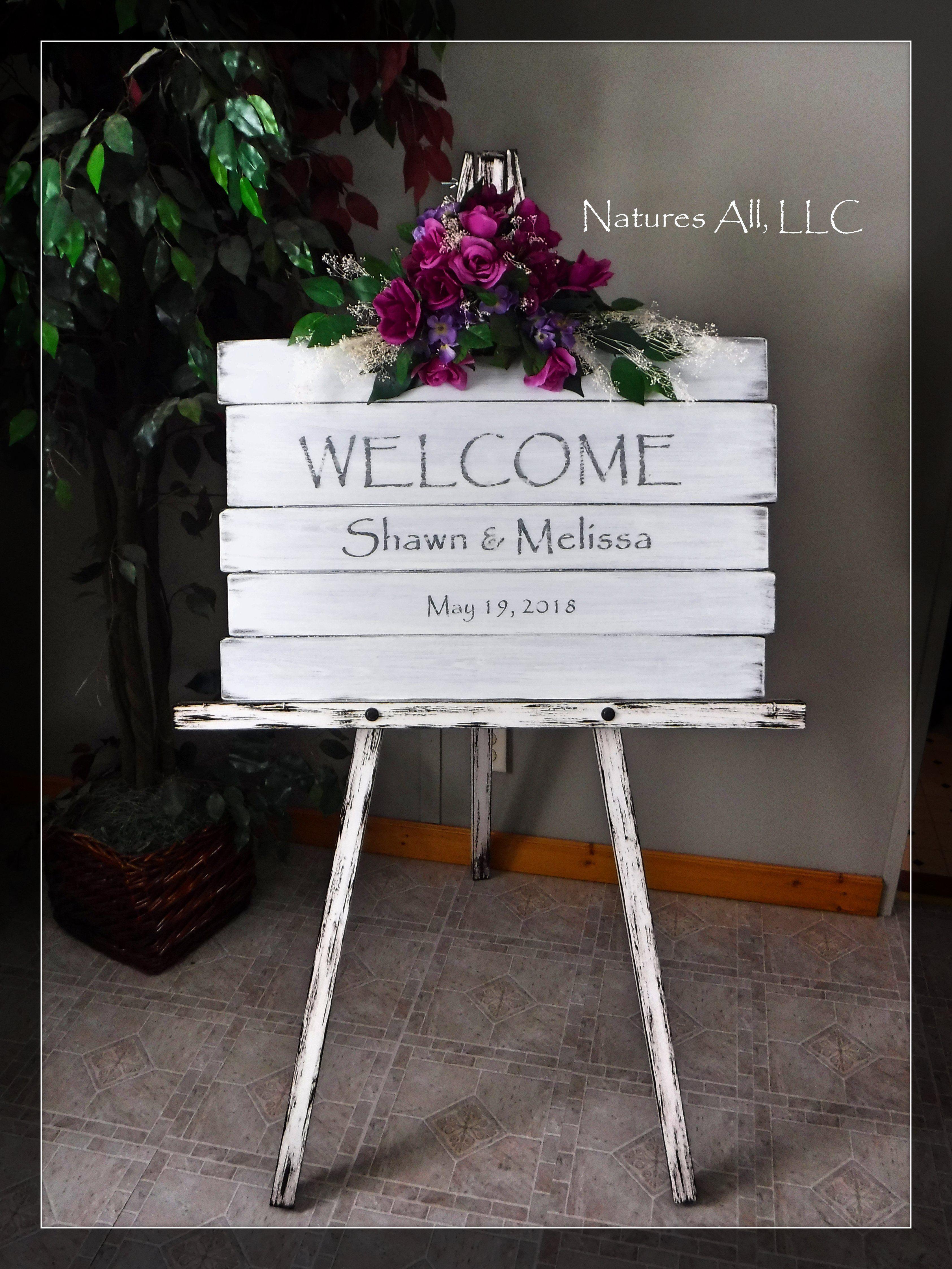 Wedding Washed Sign AND Large