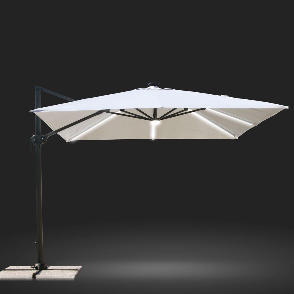 Parasol Avec Solar Lumiere Led Carre 3x3 Bars Aluminium Paradise Parasols Deco Interieure Parasol