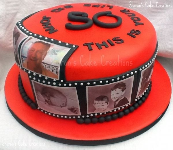 Red This Is Your Life Timeline Cake