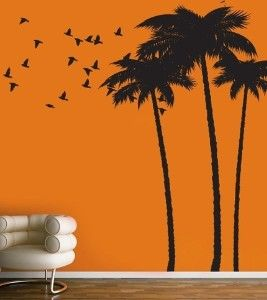 Vinyl Wall Sticker Decal Art Palm Tree By.