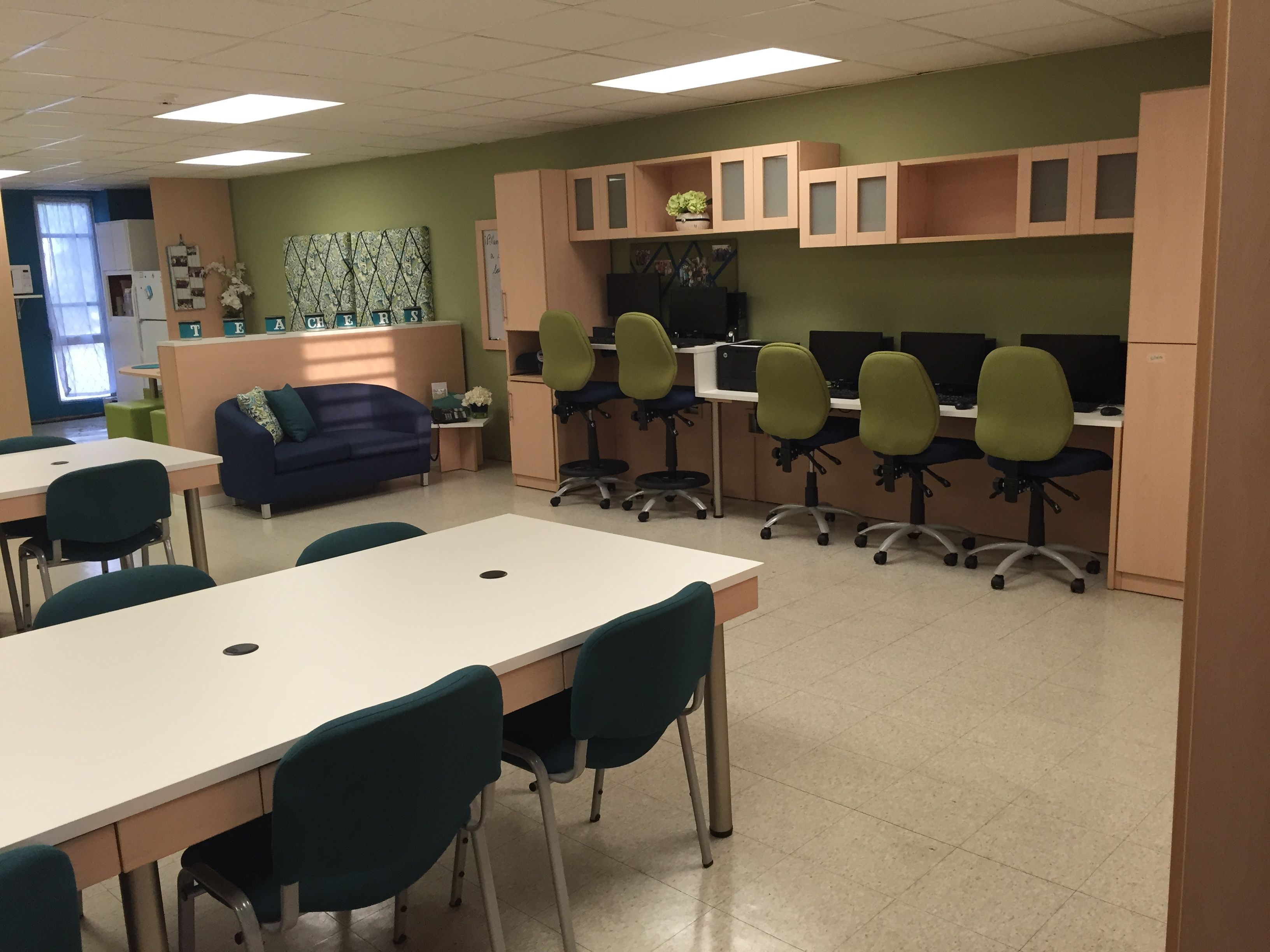 Teachers Lounge Makeover Made By Karla Furniture Mfg Puerto Rico