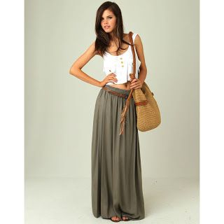 maxi skirt outfits - Google Search