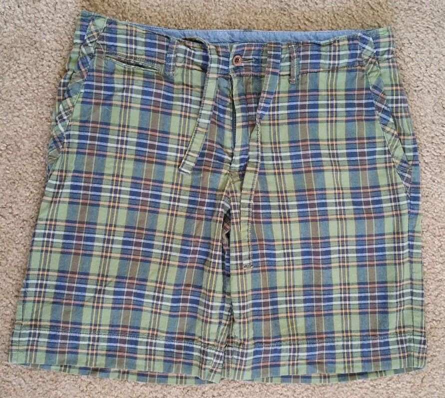 33 By Strings Size Lauren Polo Plaid Shorts Draw Ralph 100 Green 6gbYf7y